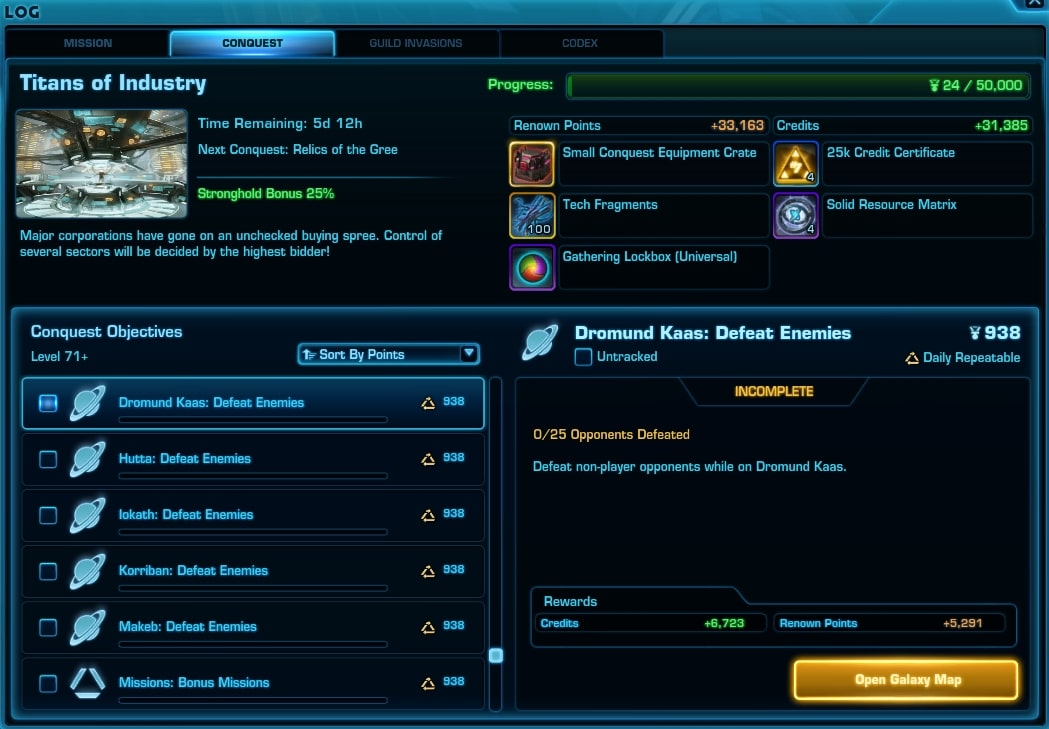 SWTOR 6.1.4 Conquest Changes