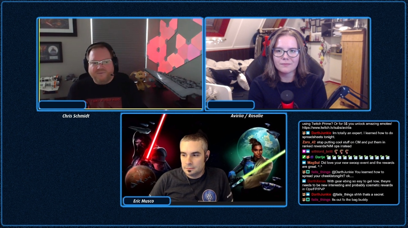SWTOR Aviriia Live Stream Interview with the devs