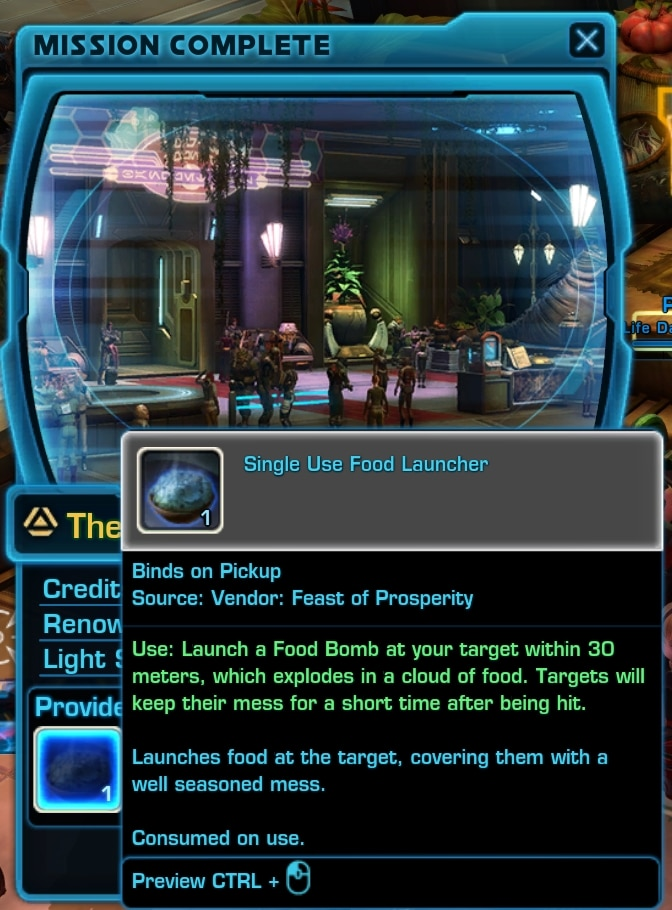 The Feast of Prosperity mission reward