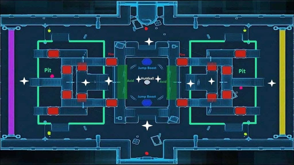 Huttball Warzone Map with Objectives and PoIs