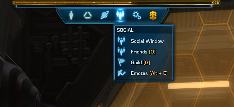 How to open the Emotes Window in SWTOR 6.2