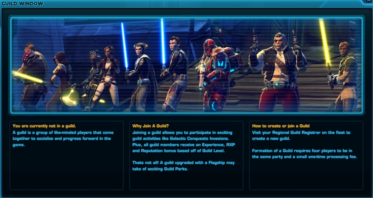 SWTOR Guild Window Preview - SWTOR Guild Conquest changes