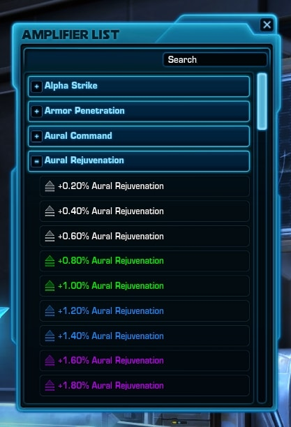 Potential Amplifiers Screen - swtor 6.2.1 pts