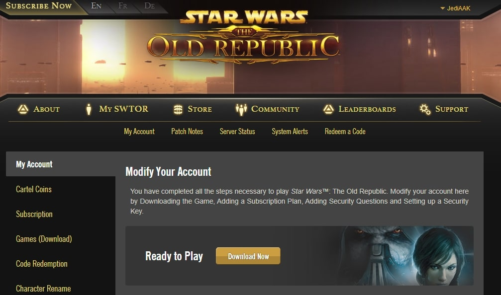 How to download SWTOR Launcher