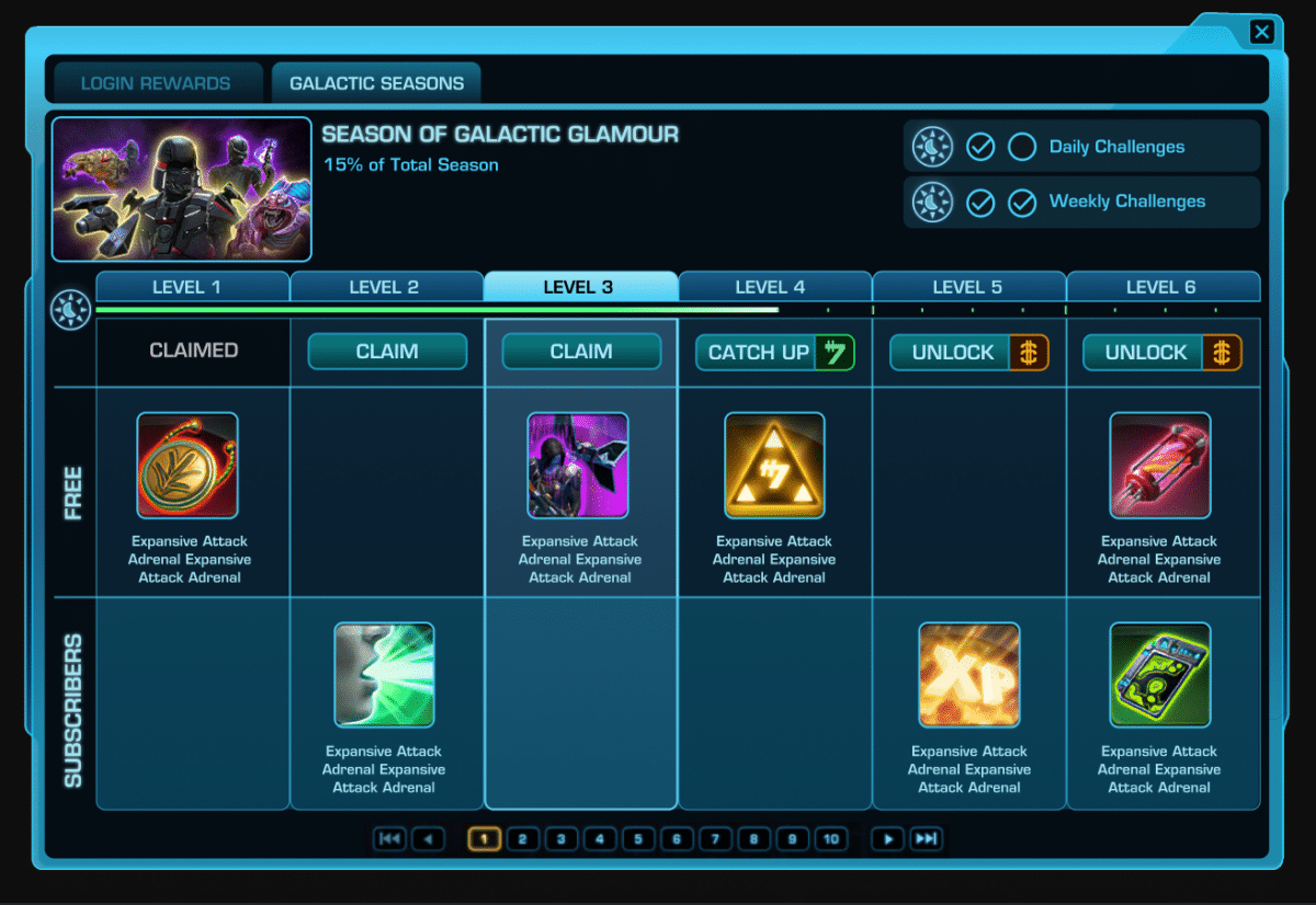 SWTOR 6.3 Galactic Seasons System Preview